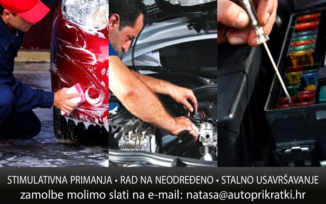 Zapošljavamo – perač automobila-automehaničar-autoelektričar