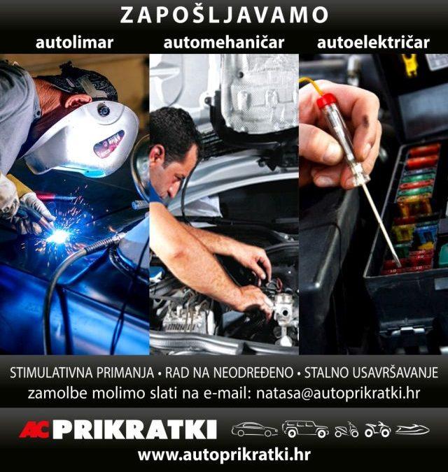 Zapošljavamo – autolimar-automehaničar-autoelektričar