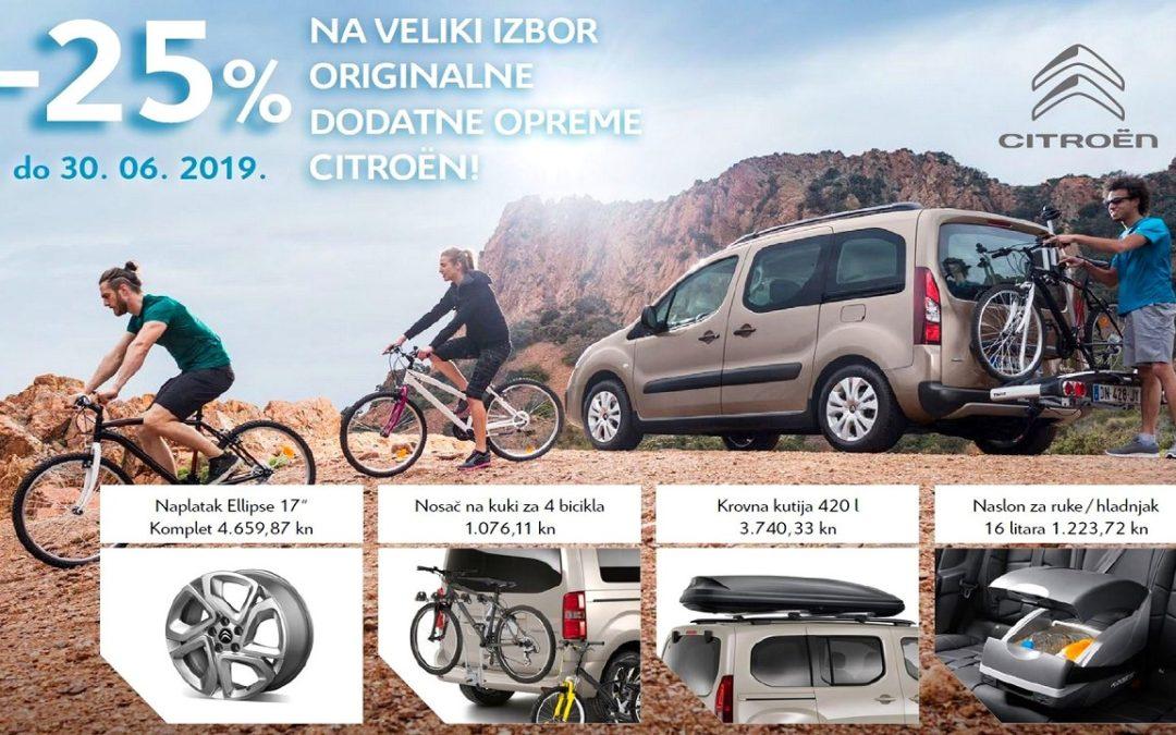25% popusta na veliki izbor originalne dodatne opreme Citroën