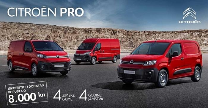 Citroën Berlingo, Jumpy i Jumper odlična su rješenja za vašu tvrtku