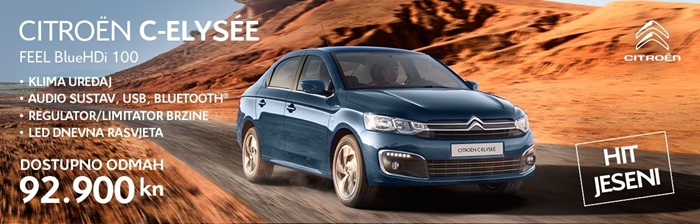 Citroën je pripremio odličnu ponudu za CITROËN C-ELYSÉE