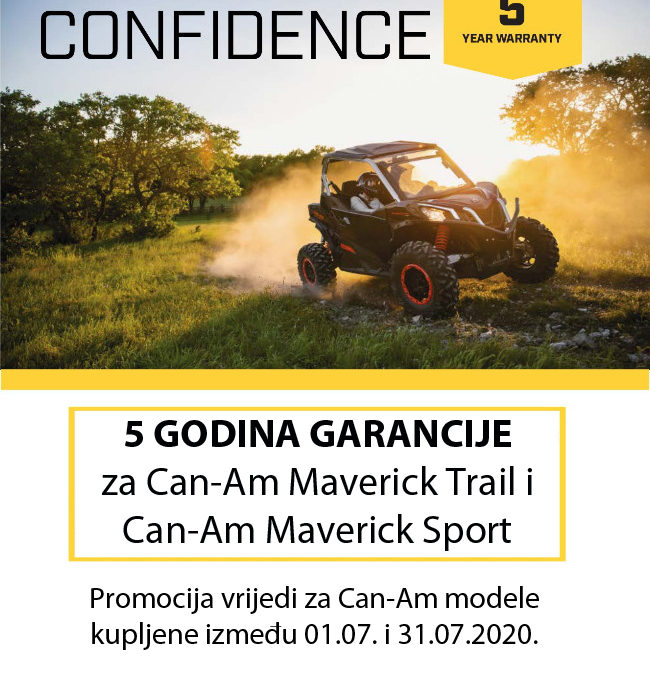 ENJOY THE CONFIDENCE! – Velika BRP promocija: 5 godina garancije za Maverick Trail i Maverick Sport