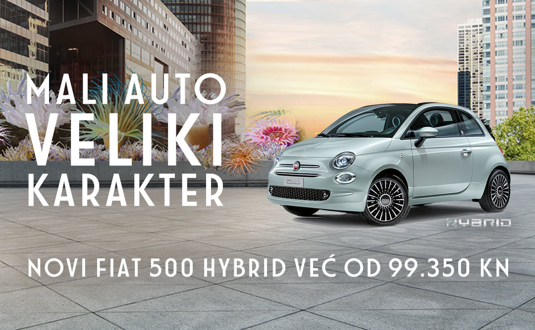 MALI AUTO, VELIKI KARAKTER – NOVI FIAT 500 HYBRID